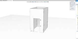 Рис. 3.2: Шахта лифта, выполненная при помощи инструмента «Сборка»