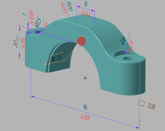 КОМПАС-Эксперт нашел неразрешенное значение параметра шероховатости