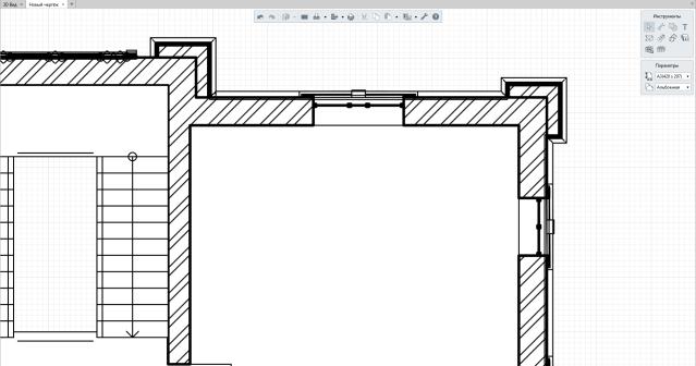 Рисунок 10: Детальное отображение окна на чертеже