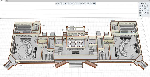 Рисунок 2: Расстановка мебели при помощи инструмента «Элемент»