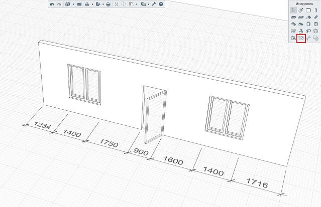 3: Размерные линии на 3D-виде