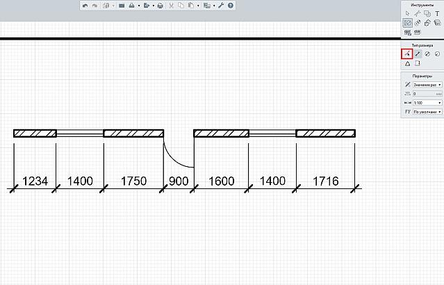 4: Автоматическое размещение размерных линии на чертеже