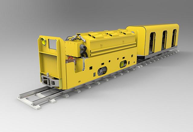 Шахтный электровоз аккумуляторный АРВ 8 Гран-при в номинации «3D-проектирование. Студенческие проекты»
