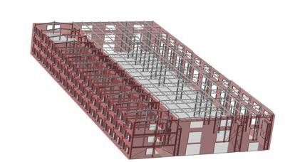 Проектирование производственного корпуса по технологии MinD с помощью Библиотеки проектирования металлоконструкций:КМ