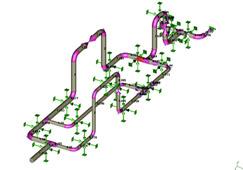 Аксонометрическая схема трубопровода в КОМПАС-3D и ее трехмерное представление в ПС СТАРТ