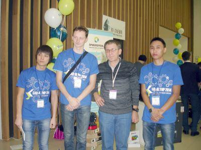 Александр Потёмкин (АСКОН) и команда Костанайского инженерно-экономического университета им. М.Дулатова (Казахстан)