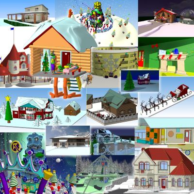 Проекты участников конкурса на лучший дом для встречи Нового года