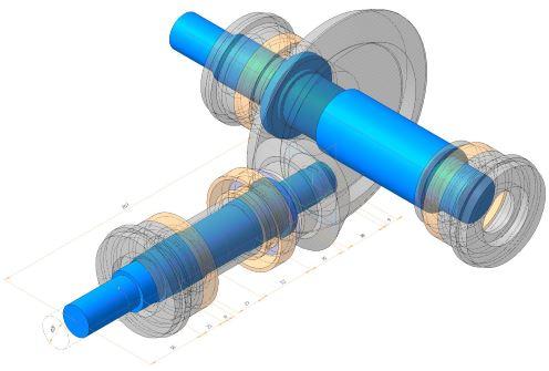 Компоновочная геометрия редуктора