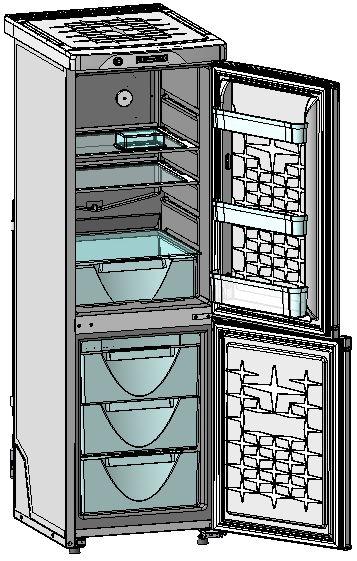 Холодильник двухкамерный «Саратов-284» (ООО «СЭПО-ЗЭМ»)