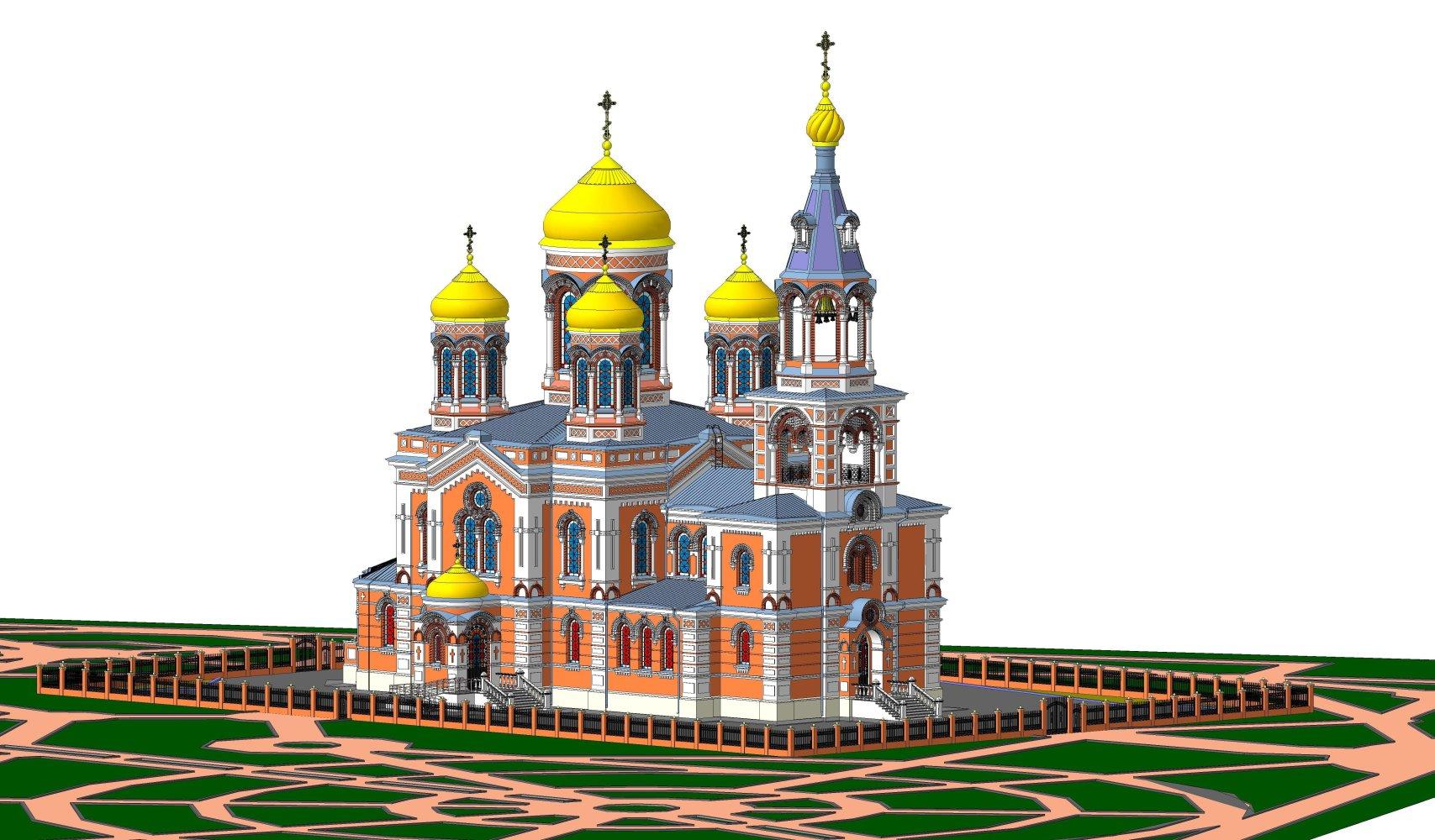 Воссоздание Введенского храма, построенного в г. Краснодаре по проекту архитектора А.П. Косякина (Дробжева Оксана)