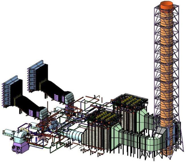 Паро-Газовая Установка ПГУ-800 МВт (ЗАО Трест Севзапэнергомонтаж)